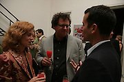 Manuela and Ivan Wirth and Matthew Slotover, Party hosted by Sir Richard and Lady Ruth Rogers at their house in Chelsea  to celebrate the extraordinary achievement of completing this year's Pavilion  by Olafur Eliasson and Kjetil Thorsenat at the Serpentine.  13 September 2007. -DO NOT ARCHIVE-© Copyright Photograph by Dafydd Jones. 248 Clapham Rd. London SW9 0PZ. Tel 0207 820 0771. www.dafjones.com.
