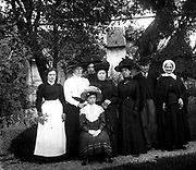 French villagers photographed circa 1911