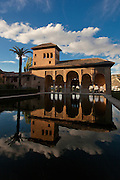 Reflection at the Alhambra in Granada, Spain