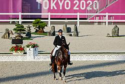 TOKYO - Olympische Spiele / Olympic Games 2021<br /> <br /> SCHUMACH Christian (AUT), Te Quiero SF<br /> Grand Prix de Dressage<br /> <br /> Tokio, Equestrian Park<br /> 25. July 2021<br /> © www.sportfotos-lafrentz.de/Stefan Lafrentz
