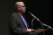 "19 January 2015-Santa Barbara, CA: The Arlington Theater Program; Introduction of Dignitaries, Dr. Wallace Shepherd Jr., Pastor.  Santa Barbara Honors Dr. Martin Luther King Jr. with a Day of Celebration.  The Santa Barbara MLK, Jr. Committee chose ""Drum Majors for Justice"" as it's theme for the day which included a Pre-March Program in De la Guerra Plaza followed by a march up State Street to the Arlington Theater for speakers, music and poetry.  The program concluded with a Community Lunch at the First United Methodist Church in Santa Barbara.  Photo by Rod Rolle"