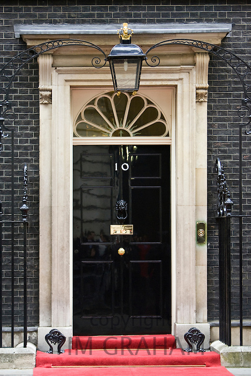 Number 10 Downing Street, official home of the British Prime Minister, London, United Kingdom