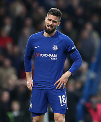 Chelsea's Olivier Giroud looks dejected after the final whistle