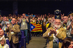 Pictured: Conference and the First Minister made no secret of the support for Catalonia. <br /> The members of the SNP gathered in the Scottish Events Centre in Glasgow for their annual conference.<br /> <br /> Ger Harley | EEm 10 October 2017