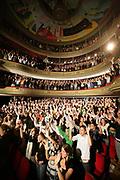 The crowd at the Groninger Studenten Cabaret Festival. Het publiek tijdens het  Groninger Studenten Cabaret Festival.