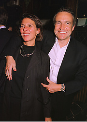 MR & MRS STEPHEN BAYLEY the former head of The Dome, at a party in London on 24th September 1998.MKF 14