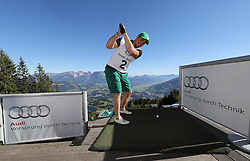 23.06.2016, Hahnenkamm, Kitzbuehel, AUT, Golf, Streif Attack 2016, im Bild Hahnenkamm winner 2016 Peter fill // Hahnenkamm winner 2016 Peter fill during Streif Attack 2016 as a side event of Kitzbuhel Golf week at the Hahnenkamm in Kitzbuehel, Austria on 2016/06/23. EXPA Pictures © 2016, PhotoCredit: EXPA/ SM<br /> <br /> *****ATTENTION - OUT of GER*****