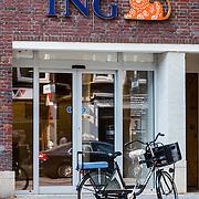 NLD/Amsterdam/20160830 - ING logo op een van de kantoren in Amsterdam