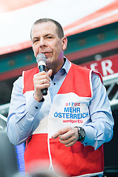 26.04.2019, Lugnercity, Wien, AUT, FPÖ, Wahlkampfauftakt zur EU-Wahl. im Bild EU-Spitzenkandidat Harald Vilimsky (FPÖ) // Topcanidate Harald Vilimsky during campaign opening of the Austrian Freedom Party due to EU elections in Vienna, Austria on 2019/04/26. EXPA Pictures © 2019 PhotoCredit: EXPA/ Michael Gruber
