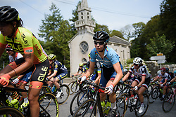 Cecilie Uttrup Ludwig in the bunch on lap 3 at Grand Prix de Plouay Lorient Agglomération a 121.5 km road race in Plouay, France on August 26, 2017. (Photo by Sean Robinson/Velofocus)