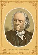 'Thomas Guthrie (1803-1873) Scottish divine, popular preacher and philanthropist. Colour-printed wood engraving c1880.'