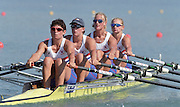 St Catharines, Ontario, CANADA 1999 World Rowing Championships.  GBR W4X Stroke Guin BATTEN, Bow Lisa EYRE, No.3 Katherine GRAINGER. No.2 Sarah WINCKLESS. [Mandatory Credit Peter Spurrier Intersport Images] 1999 FISA. World Rowing Championships, St Catherines, CANADA