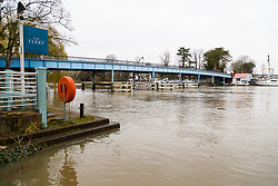 The waters rise in Cookham, Berkshire as heavy rains in the River Thames' catchment area and saturated ground cause the river to rise to within inches of bursting its banks.. April 02 2018.