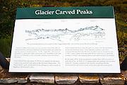 Interpretive sign on Lizard Head Pass,Uncompahgre National Forest, Colorado
