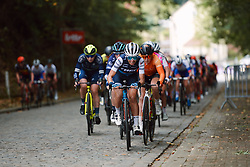 Trixi Worrack (GER) grimaces on the cobbled climb at the 2020 Brabantse Pijl - Elite Women, a 121 km road race from Lennik to Overijse, Belgium on October 7, 2020. Photo by Sean Robinson/velofocus.com