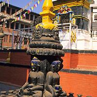 Asia, Nepal, Kathmandu. The Swayambhunath Stupa is one of the most sacred Buddhist sites in Nepal.