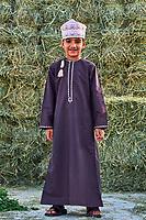Sultanat d'Oman, gouvernorat de Al-Batina, Nakhal, le fort Husn Al Heem // Sultanat of Oman, governorate of Al-Batina, Nakhl, Nakhl Fort or Husn Al Heem, fortress, historic mudbrick building