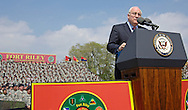 Department of Defense -- Vice President Dick Cheney addresses 10,000 Soldiers and family members at a support the troops rally at Fort Riley, Kansas.
