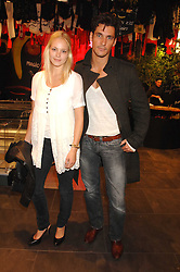 Model ANNABELLE HORSEY and DAVID GANDY at the launch of the Desigual flagship store at 222 Regent Street, London W1 on 28th June 2007.<br /><br />NON EXCLUSIVE - WORLD RIGHTS