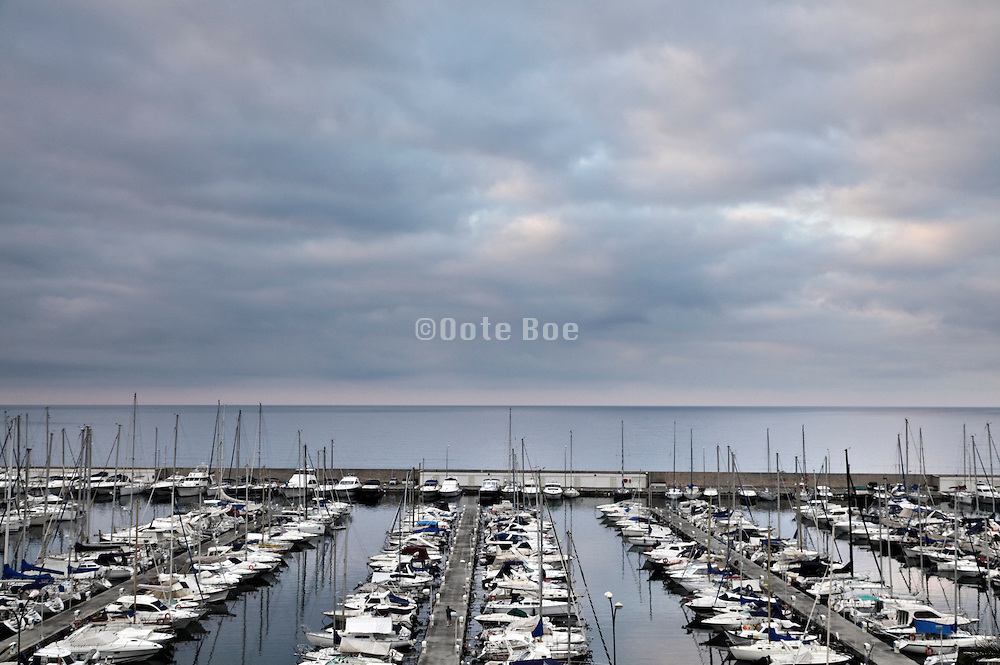 yachting harbor on the Mediterranean sea in Menton France