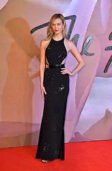 Karlie Kloss attending The Fashion Awards 2016 at the Royal Albert Hall, London.