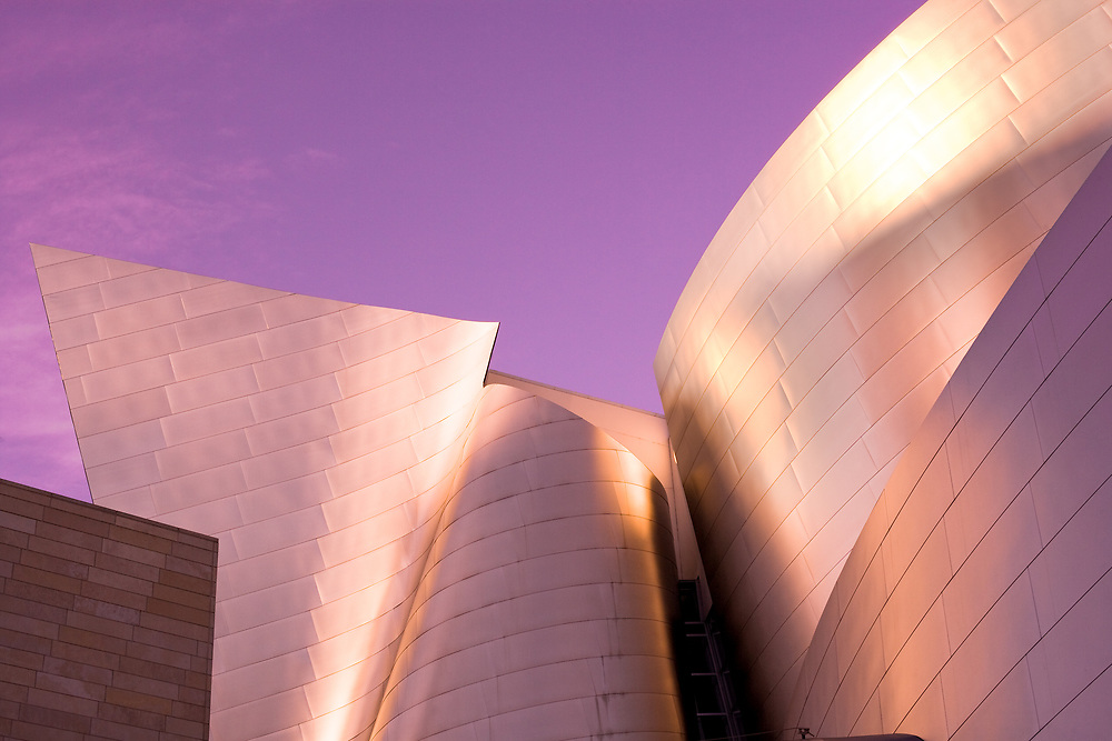 Los Angeles, California, United States - December 9, 2008: Detail of the avant garde architecture of Walt Disney Concert Hall designed by architect Frank Gehry at downtown.