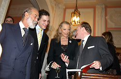 Left to right, HRH PRINCE MICHAEL OF KENT, LORD FREDERICK WINDSOR, HRH PRINCESS MICHAEL OF KENT and ANDREW ROBERTS at a party to celebrate the publication of Andrew Robert's new book 'Waterloo: Napoleon's Last Gamble' and the launch of the paperback version of Leonie Fried's book 'Catherine de Medici' held at the English-Speaking Union, Dartmouth House, 37 Charles Street, London W1 on 8th February 2005.<br />