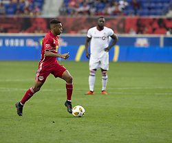 September 22, 2018 - Harrison, New Jersey, United States - Tyler Adams (4) of New York Red Bulls controls ball during regular MLS game against Toronto FC at Red Bull Arena Red Bulls won 2 - 0 (Credit Image: © Lev Radin/Pacific Press via ZUMA Wire)