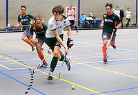 ARNHEM - Hidde Turkstra van R'dam. , De mannen van Rotterdam tijdens de eerste dag van de zaalhockey competitie in de hoofdklasse, seizoen 2013/2014. COPYRIGHT KOEN SUYK