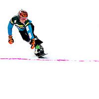 Duitsland, Sudelfeld, 07-02-2015.<br /> Ski, Snowboard, Paralel Reuzenslalom, Kwart Finale.<br /> Nicolien Sauerbreij komt hier voor de allerlaatste keer in haar carriere als snowboardster over de eindstreep. Sauerbreij wordt in deze 2e run van de kwartfinales uitgeschakeld en wordt uiteindelijk 7e. Haar beste prestatie van dit seizoen. Sauerbreij heeft nu afscheid genomen en stopt met de wedstrijd sport.<br /> Foto: Klaas Jan van der Weij