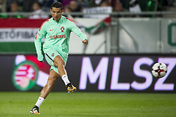 September 3, 2017 - Budapest, Hungary - Cristiano Ronaldo of Portugal kicks the ball during the FIFA World Cup 2018 Qualifying Round match between Hungary and Portugal at Groupama Arena in Budapest, Hungary on September 3, 2017  (Credit Image: © Andrew Surma/NurPhoto via ZUMA Press)