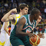 Banvit's Lance WILLIAMS (F) during their Turkish Basketball league semi final second leg match Fenerbahce Ulker between Banvit at Abdi Ipekci Arena in Istanbul, Turkey, Wednesday, May 12, 2010. Photo by TURKPIX