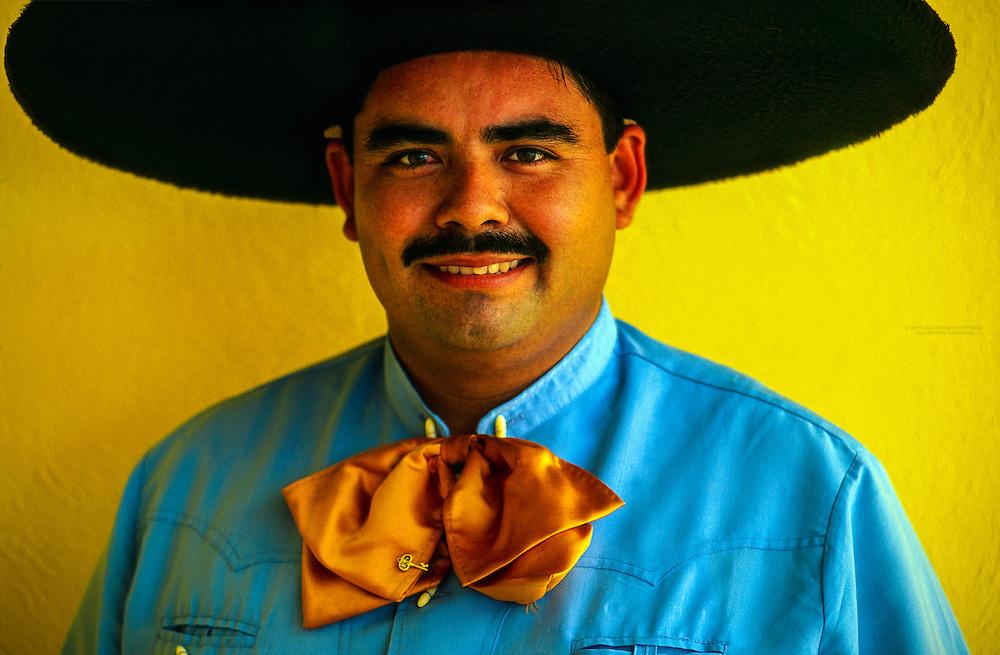 Mexican man wearing a sombrero, Los Cabos, Baja Peninsula, Mexico