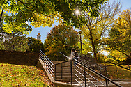 Colgate University is pictured with fall foliage October 9, 2020.