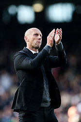 Reading manager Jaap Stam thanks the fans after a 1-1 draw in the first leg - Rogan Thomson/JMP - 13/05/2017 - FOOTBALL - Craven Cottage - London, England - Fulham v Reading - Sky Bet EFL Championship Play-Off Semi Final 1st Leg.