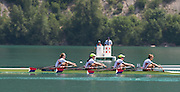 Aiguebelette, FRANCE.   USA W4X. Grace LATZ, Tracy EISSER, Eleanor LOGAN and Felice MUELLER.  2014 FISA World Cup II, 12:24:18  Sunday  22/06/2014. [Mandatory Credit; Peter Spurrier/Intersport-images]