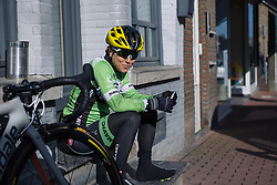 Shelley Olds soaking up the Spring sunshine - Le Samyn des Dames 2016, a 113km road race from Quaregnon to Dour, on March 2, 2016 in Hainaut, Belgium.