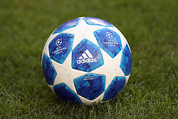 August 21, 2018 - Lisbon, Portugal - The official match ball for the 2018-2019 UEFA Champions League is pictured during the play-off first leg match SL Benfica vs PAOK FC at the Luz Stadium in Lisbon, Portugal on August 21, 2018. (Credit Image: © Pedro Fiuza/NurPhoto via ZUMA Press)