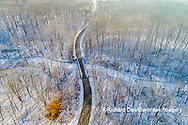 63877-01307 Aerial view of forest and road after snowfall in winter Stephen A. Forbes St. Park Marion Co. IL