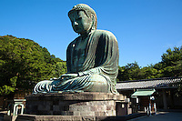 """The Great Buddha of Kamakura, or """"Daibutsu"""" as it is known in Japanese, is Kamakura's most famous attraction.  Immortalized by a poem of Rudyard Kipling """"The Great Buddha of Kamakura""""."""