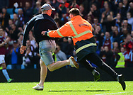 an Aston Villa fan Invades the pitch.  EFL Skybet championship match, Aston Villa v Birmingham city at Villa Park in Birmingham, The Midlands on Sunday 23rd April 2017.<br /> pic by Bradley Collyer, Andrew Orchard sports photography.