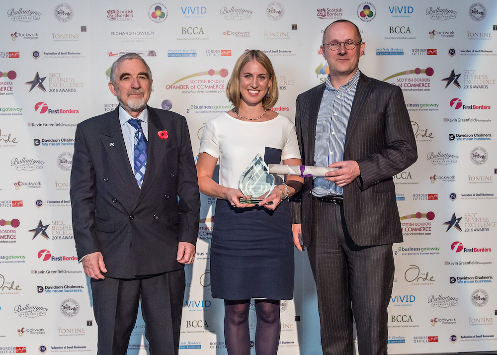 Scottish Borders Business Excellence Awards 2016, Exporter of the Year.  Sponsored by the Scottish Borders Exporters Association. Winner ~ Tempest Brewing, Tweedbank.<br /> The 2016 Scottish Border Business Excellence Awards, held at Springwood Hall, Kelso. The awards were run by the Scottish Borders Chambers of Commerce, with guest speaker Councillor Stuart Bell, BSC Executive Member for Economic Development.  The SBCC chairman Jack Clark and the presenter Fiona Armstrong co hosted the event.