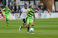 Forest Green Rovers Aarran Racine (21) on the ball during the Vanarama National League match between Dover Athletic and Forest Green Rovers at Crabble Athletic Ground, Dover, United Kingdom on 10 September 2016. Photo by Shane Healey.