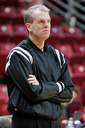 NORMAL, IL - December 16: Randy Heimerman during a college basketball game between the ISU Redbirds and the Cleveland State Vikings on December 16 2018 at Redbird Arena in Normal, IL. (Photo by Alan Look)