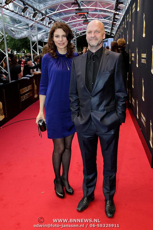 NLD/Utrecht/20121005- Gala van de Nederlandse Film 2012, Rifka van Lodeizen en regisseur Frank Ketelaar