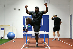 Derrick Appiah of Worcester Warriors goes over hurdles during pre-season training - Mandatory by-line: Robbie Stephenson/JMP - 07/06/2016 - RUGBY - Worcester Warriors - Pre-season training session