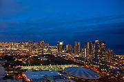 Honolulu at Twilight, Oahu, Hawaii