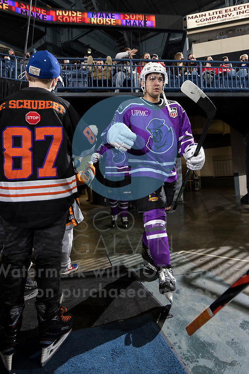 Youngstown Phantoms lose 3-2 in a shootout to the Muskegon Lumberjacks at the Covelli Centre on February 27, 2021.<br /> <br /> Jack Silich, forward, 8