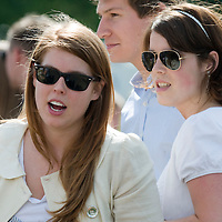 Windsor Great Park, England - 15 June  TRH Princess Beatrice and Eugenie with Dave Clark, Beatrice's boyfriend at the Vivari Queens Cup Final at Guards Polo Club on June 15-  Her Majesty Queen Elizabeth the II attends the High Goal Polo Match Queen's Cup sponsored by Vivari one of the most important polo events of the season.