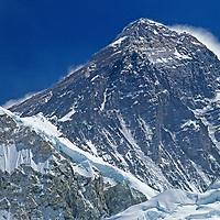 HIMALAYA, NEPAL. 8850-meter (29,035') Mount Everest, viewed from Kala Patar.